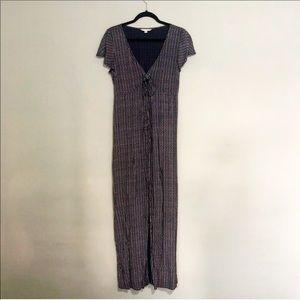 AE Maxi Dress Sweetheart Blue Pinstripe Medium